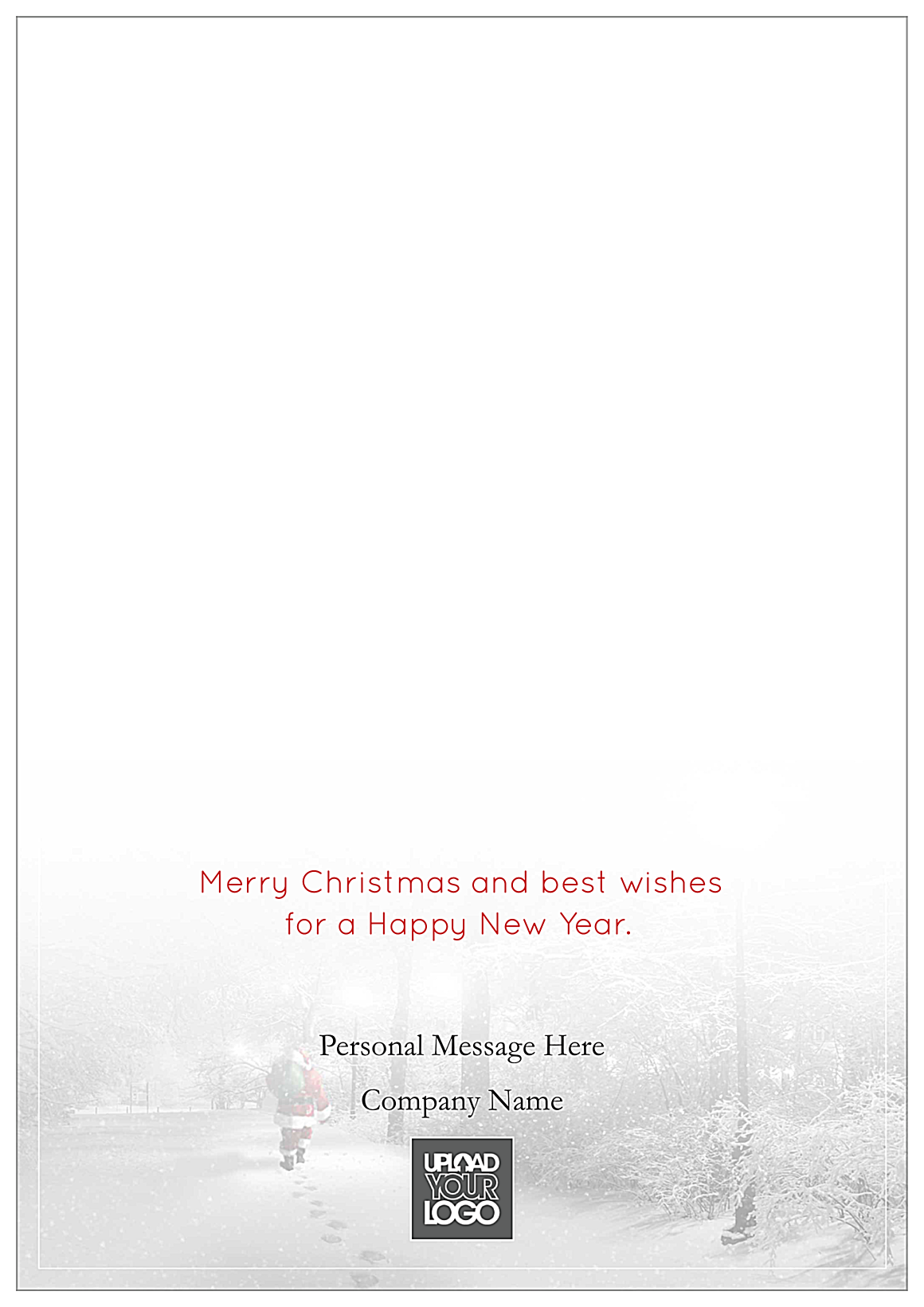 Snowy Merry Christmas back - Greeting Cards Maker