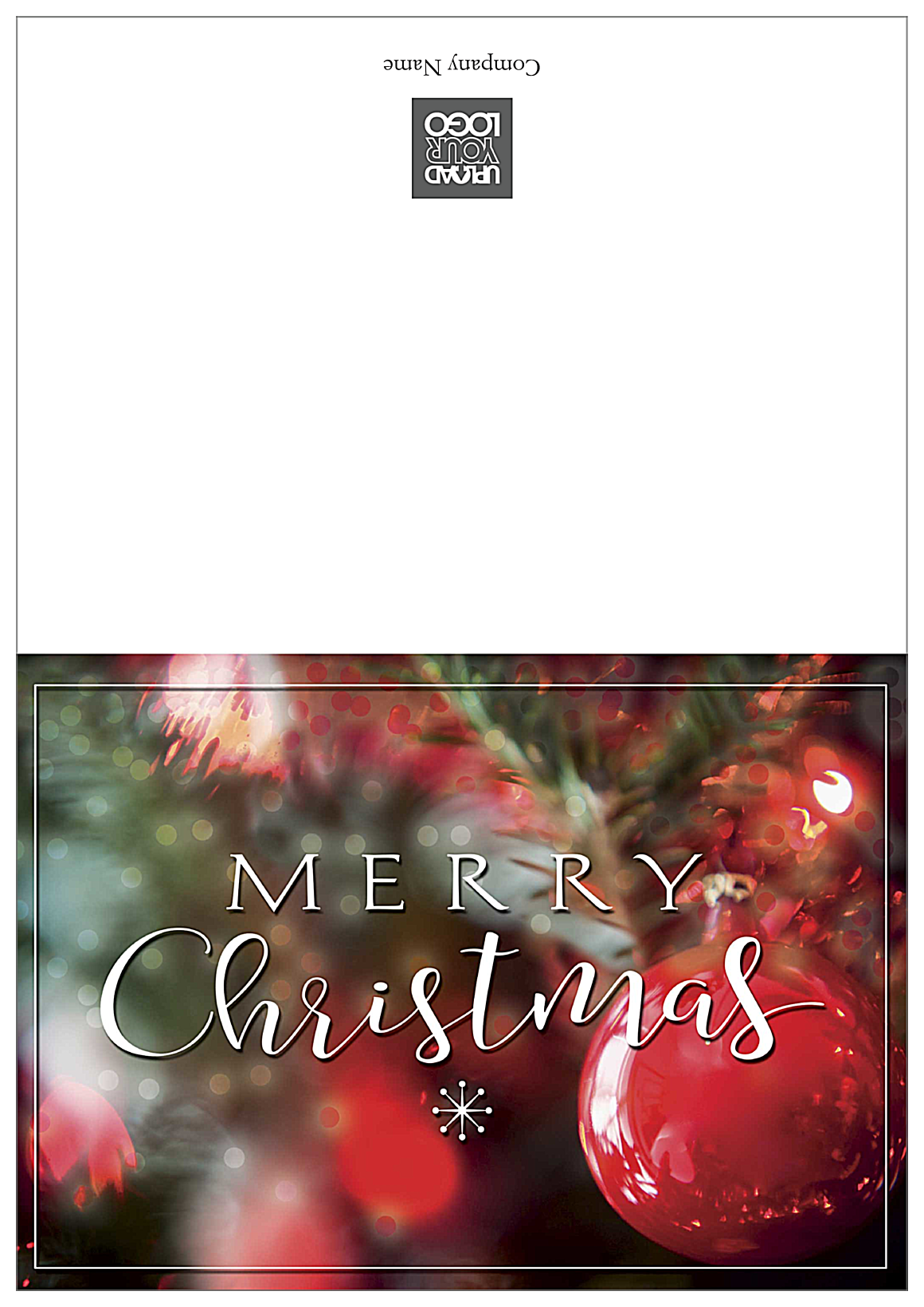 Merry Christmas Ornaments front - Greeting Cards Maker