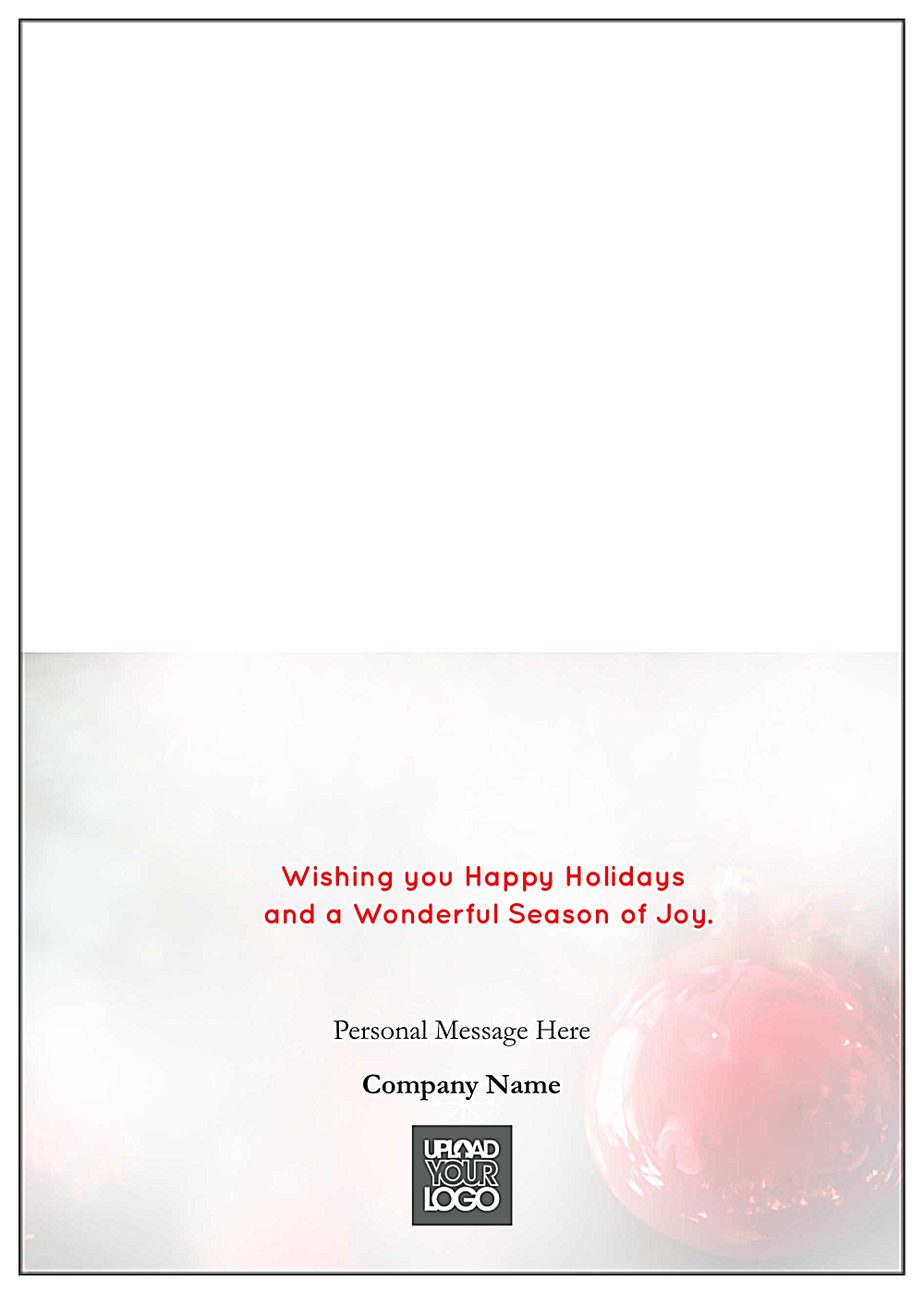 Merry Christmas Ornaments back - Greeting Cards Maker