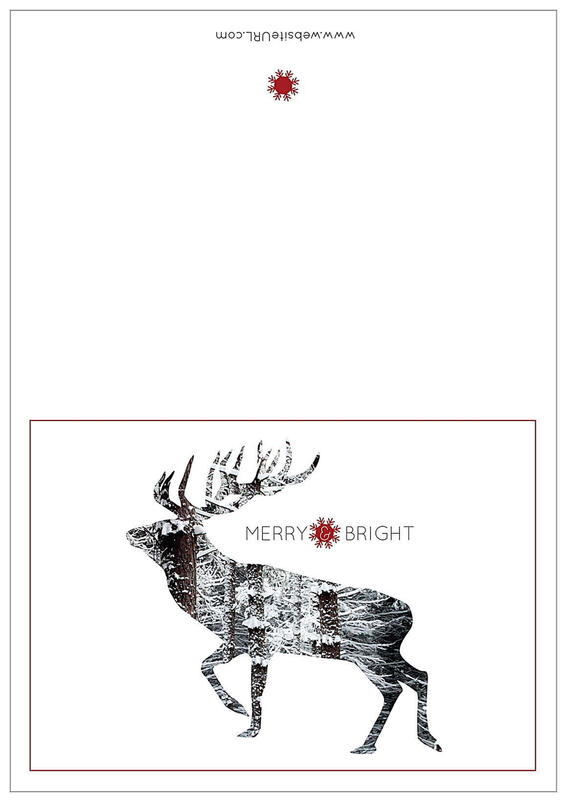 Snowy Reindeer front - Greeting Cards Maker