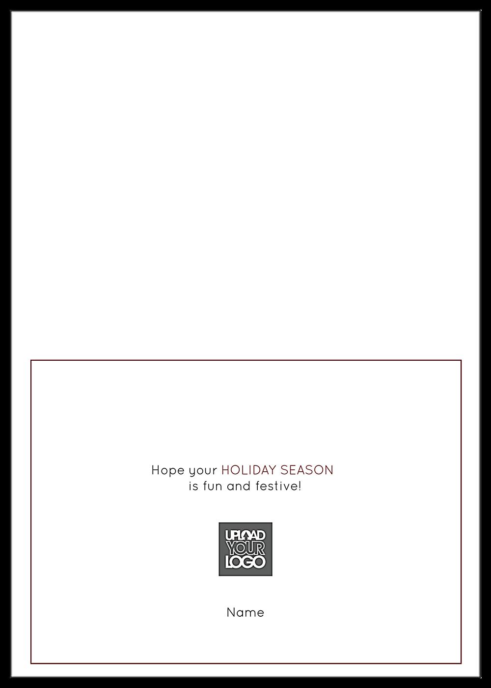Snowy Reindeer back - Greeting Cards Maker