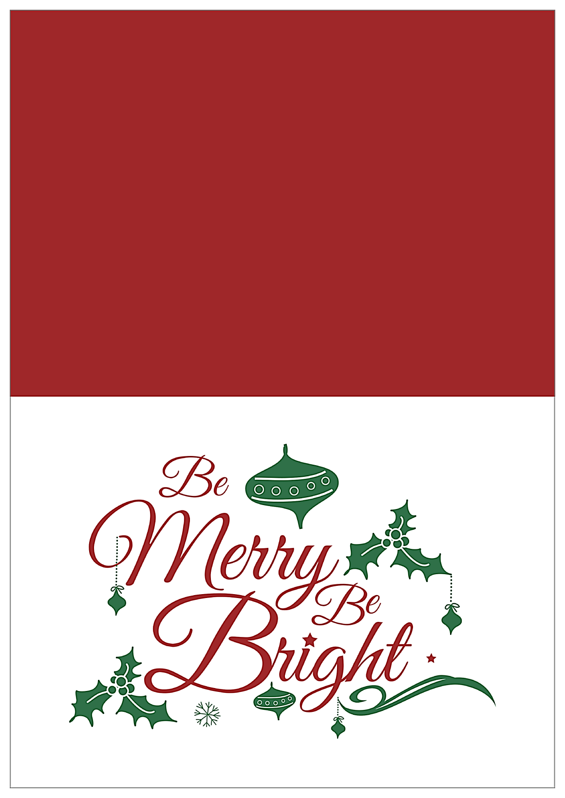 Merry Bright front - Greeting Cards Maker