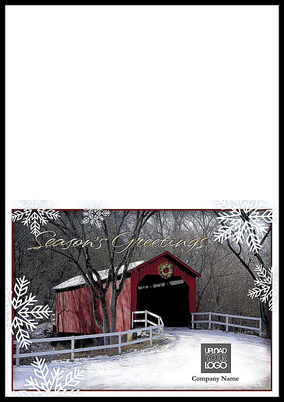 Season's Greeting Bridge front - Greeting Cards Maker
