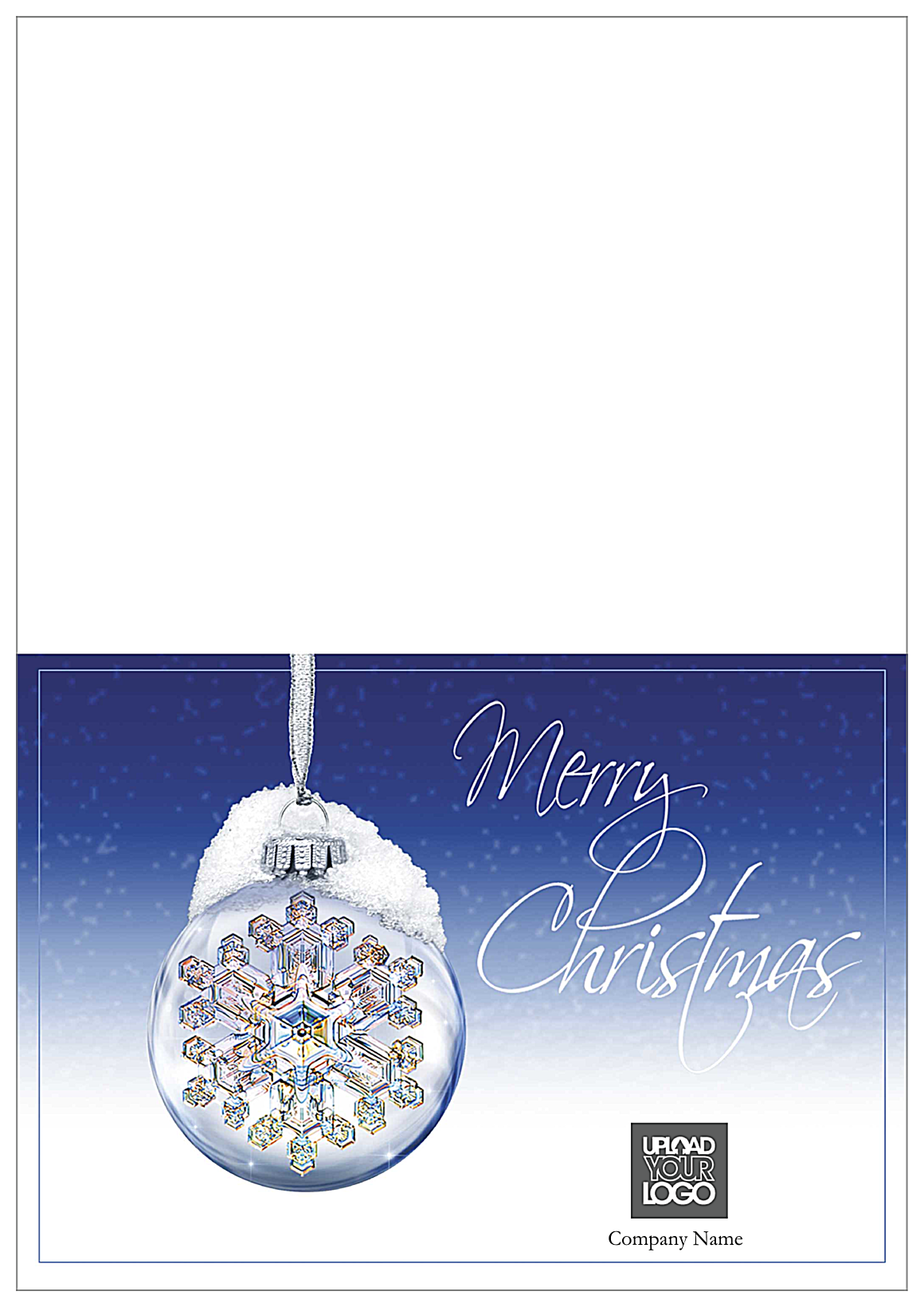 Merry Christmas Snow Flake front - Greeting Cards Maker
