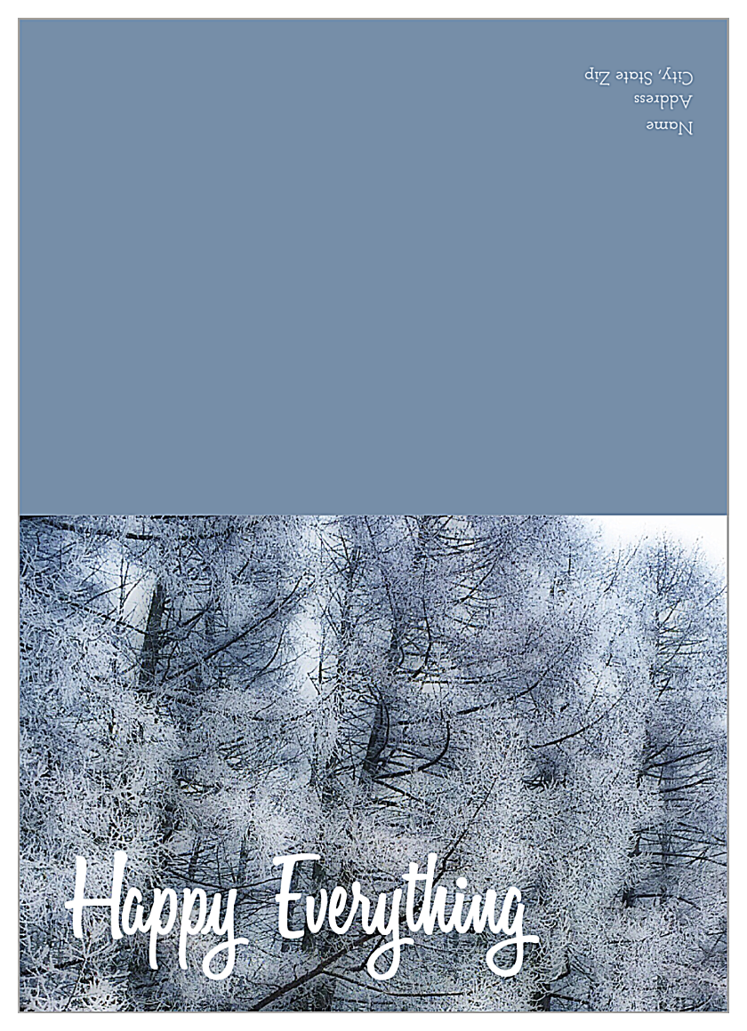 Frosted Trees front - Greeting Cards Maker