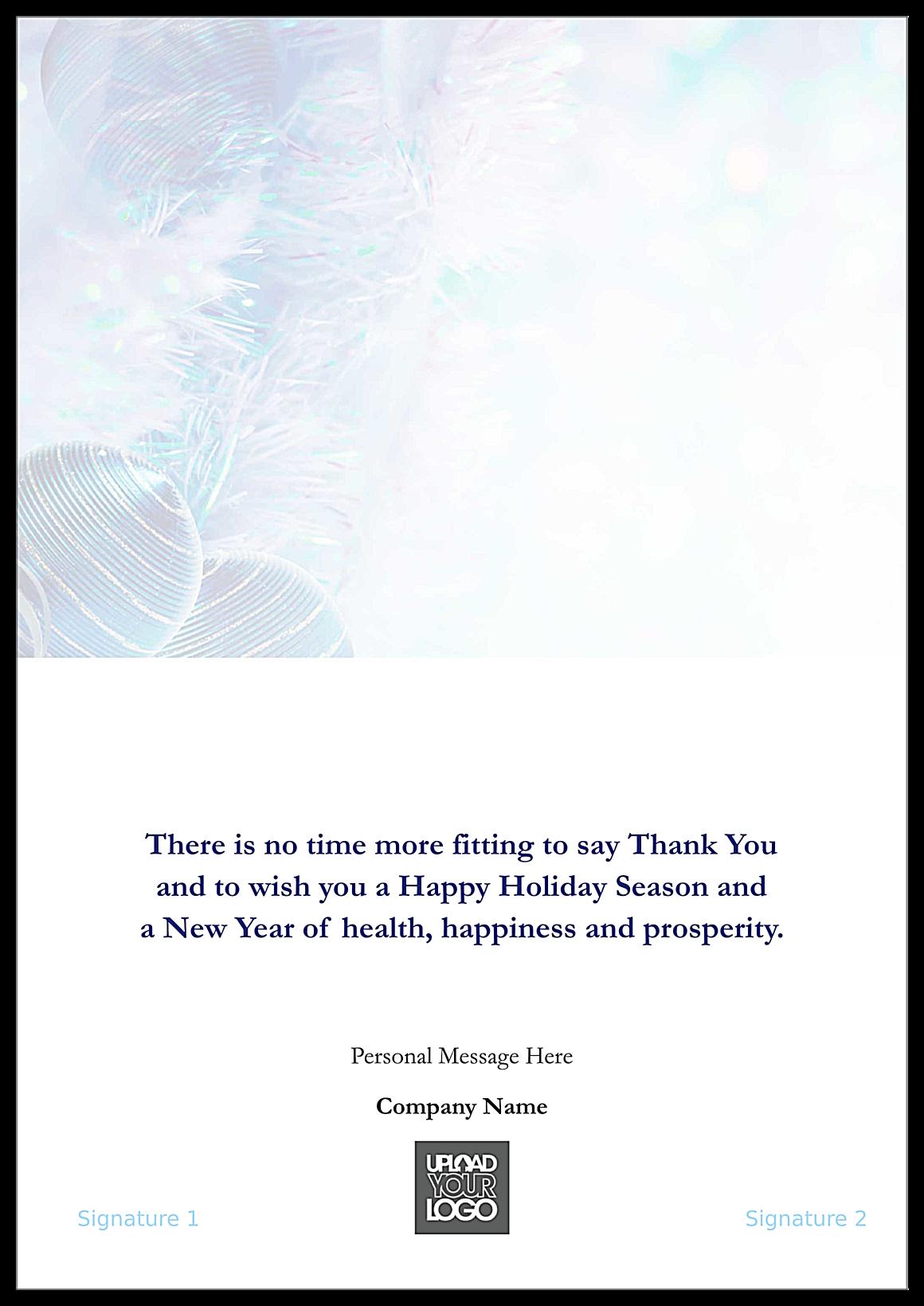 Thank You Garlands back - Greeting Cards Maker
