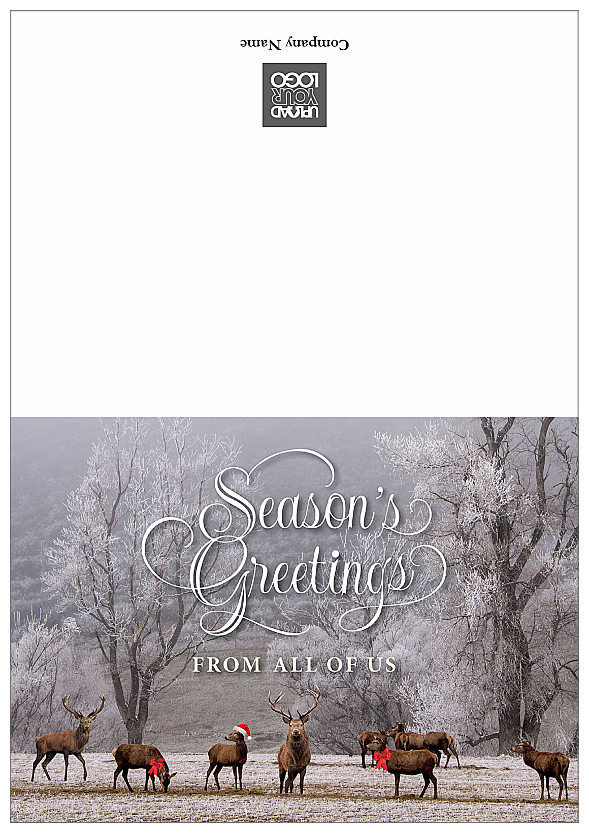 Season's Greeting front - Greeting Cards Maker