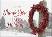 Happy Holidays Wreath - greeting-cards Maker