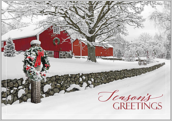 Snowy Seasons Greetings - greeting-cards Maker
