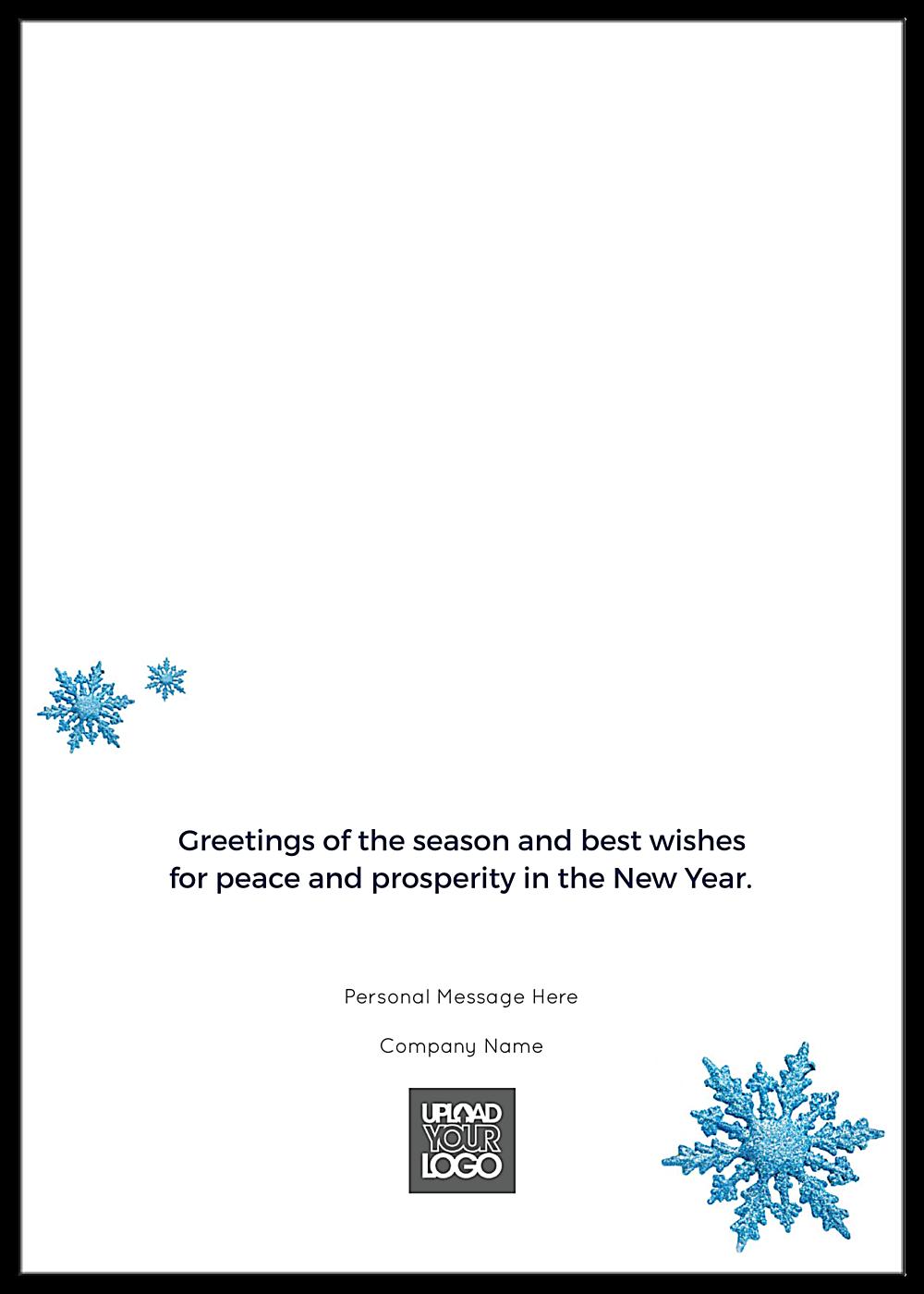 Blue Happy Holidays back - Greeting Cards Maker