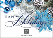 Blue Happy Holidays - greeting-cards Maker