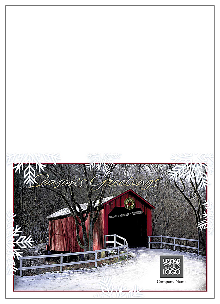 Season's Greeting Bridge front - Greeting Cards Maker