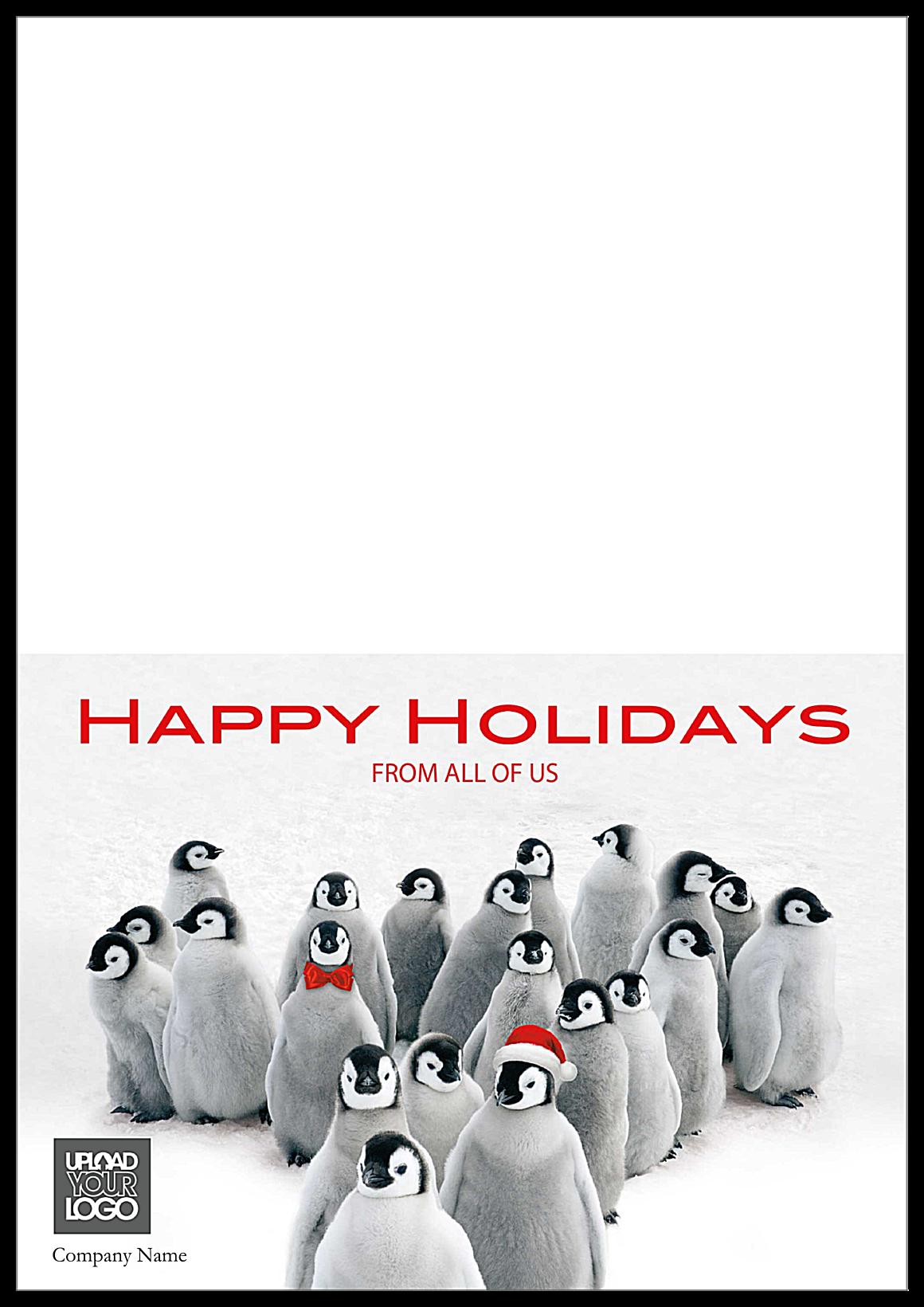 Holiday Penguins front - Greeting Cards Maker