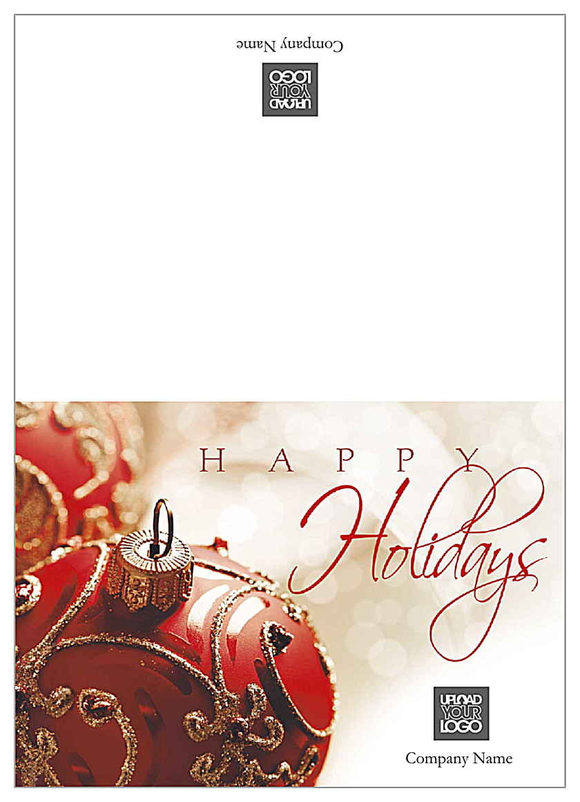 Red Christmas Ornament front - Greeting Cards Maker