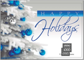 Holiday Blue and Silver - greeting-cards Maker