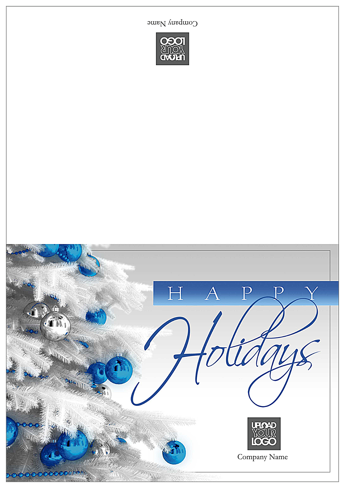 Holiday Blue and Silver front - Greeting Cards Maker
