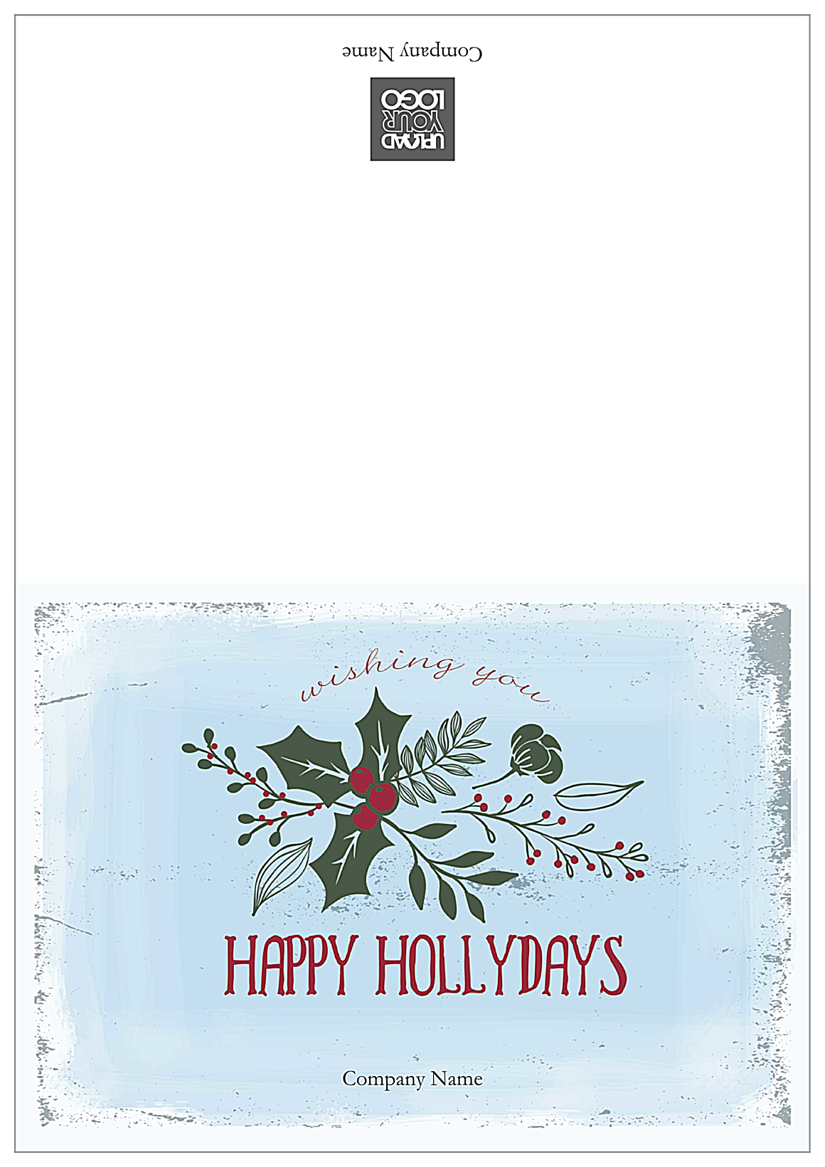 Holiday Missletoe front - Greeting Cards Maker