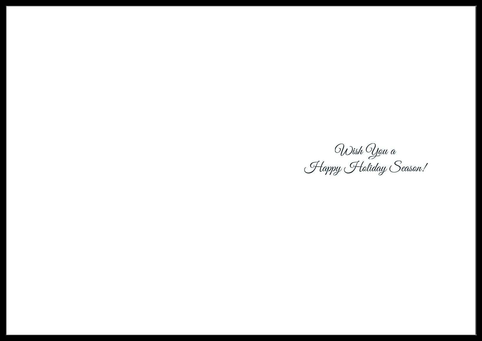Snow Deer back - Greeting Cards Maker