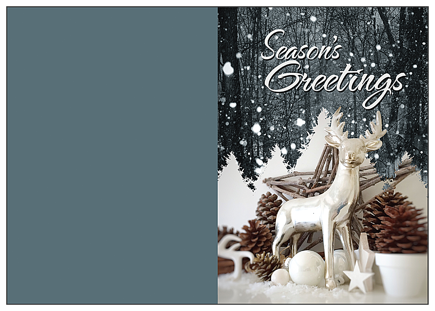 Snow Deer front - Greeting Cards Maker