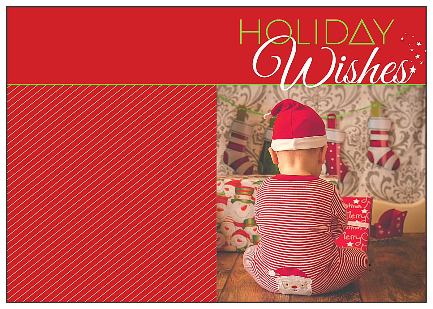Wishing for Santa front - Greeting Cards Maker