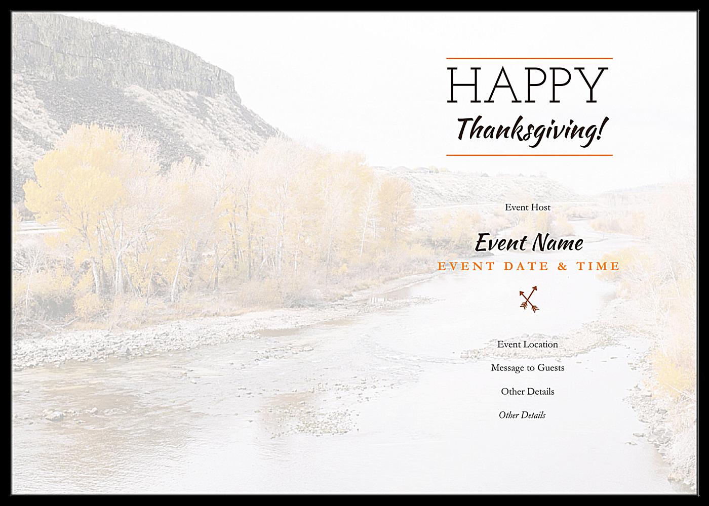 Autumnal Gratitude back - Greeting Cards Maker