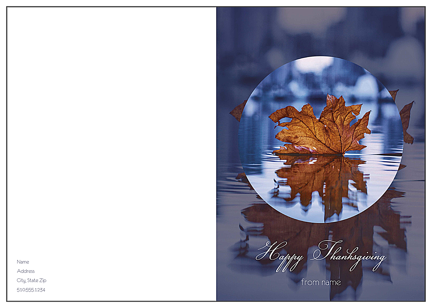 Fall Reflections front - Greeting Cards Maker