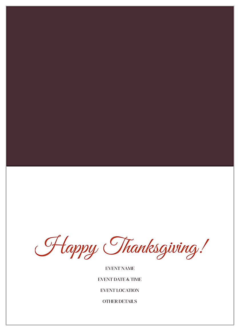 Autumn Leaves back - Greeting Cards Maker