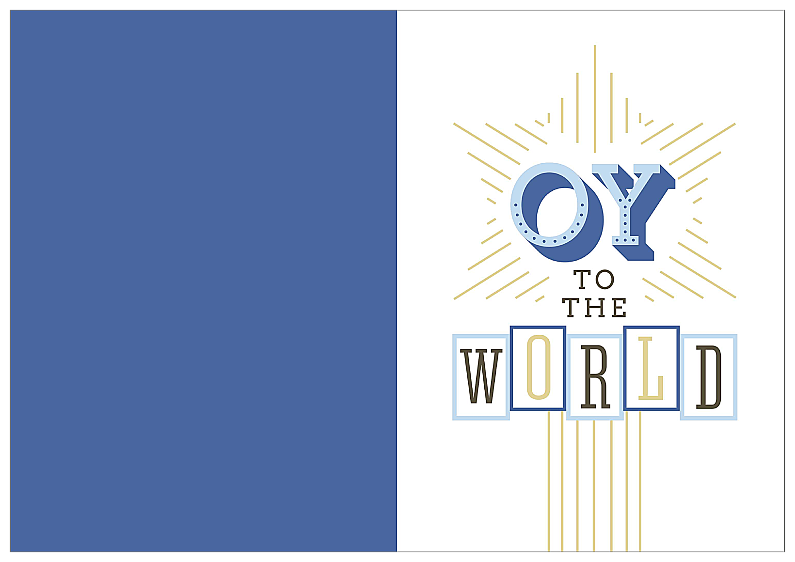 Oy To The World front - Greeting Cards Maker
