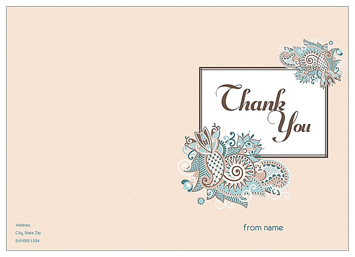 Paisley Thanks front - Greeting Cards Maker