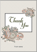 Paisley Thanks - greeting-cards Maker