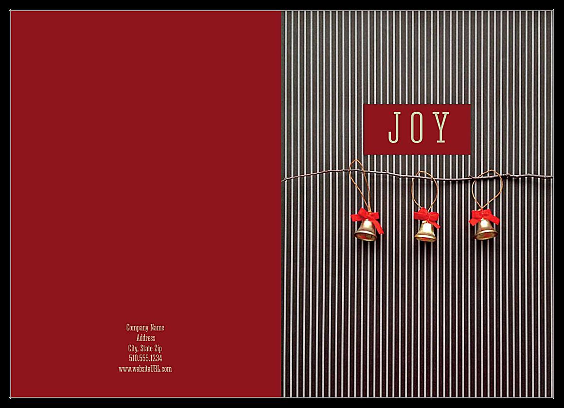 Striped Joy front - Greeting Cards Maker
