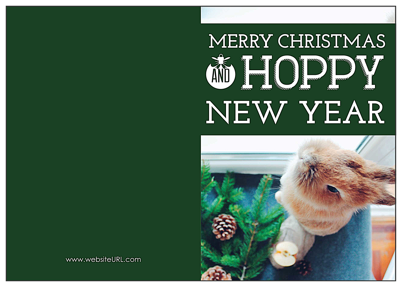 Hoppy Happy Holiday front - Greeting Cards Maker