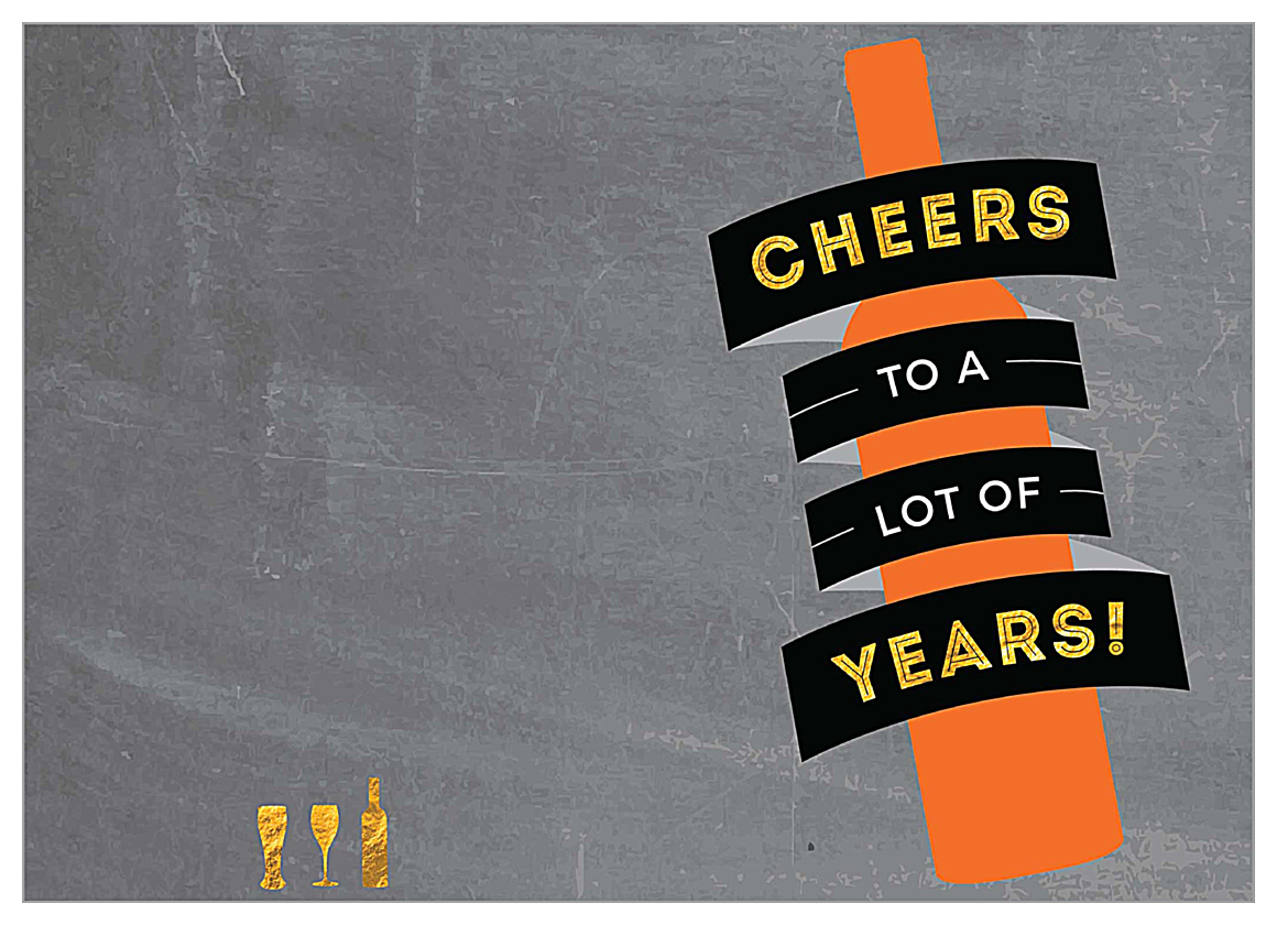 Cheers the Years front - Greeting Cards Maker