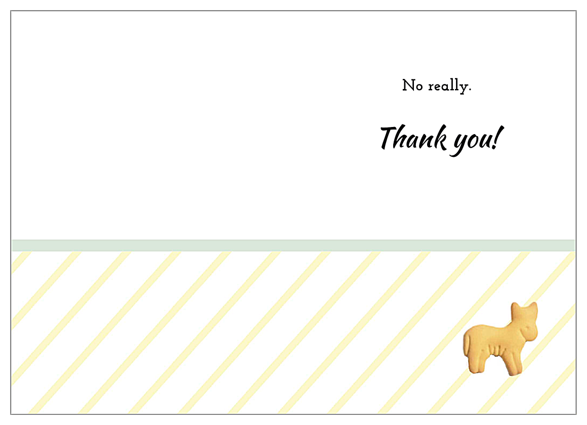 Gee Thank You back - Greeting Cards Maker