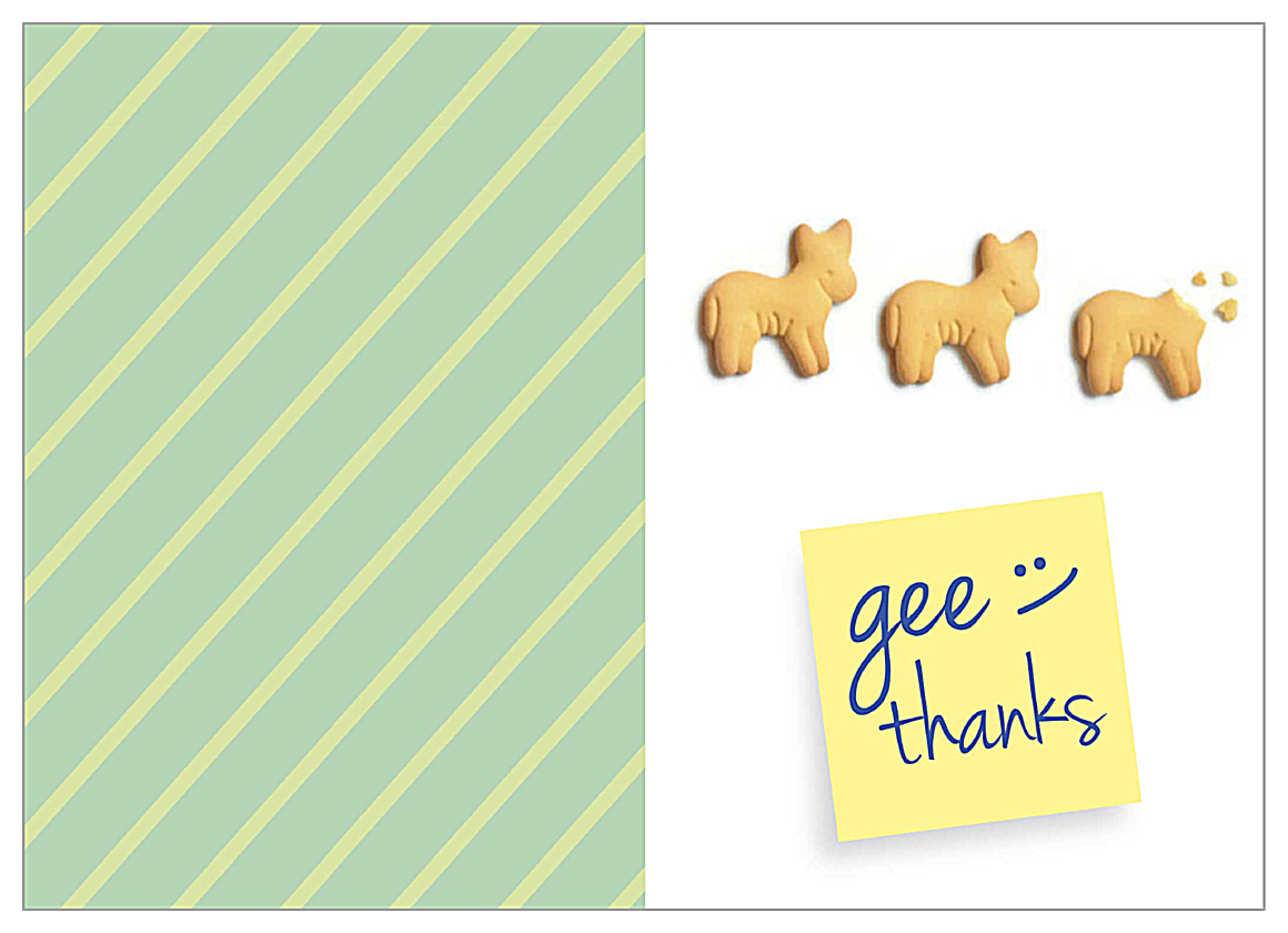 Gee Thank You front - Greeting Cards Maker