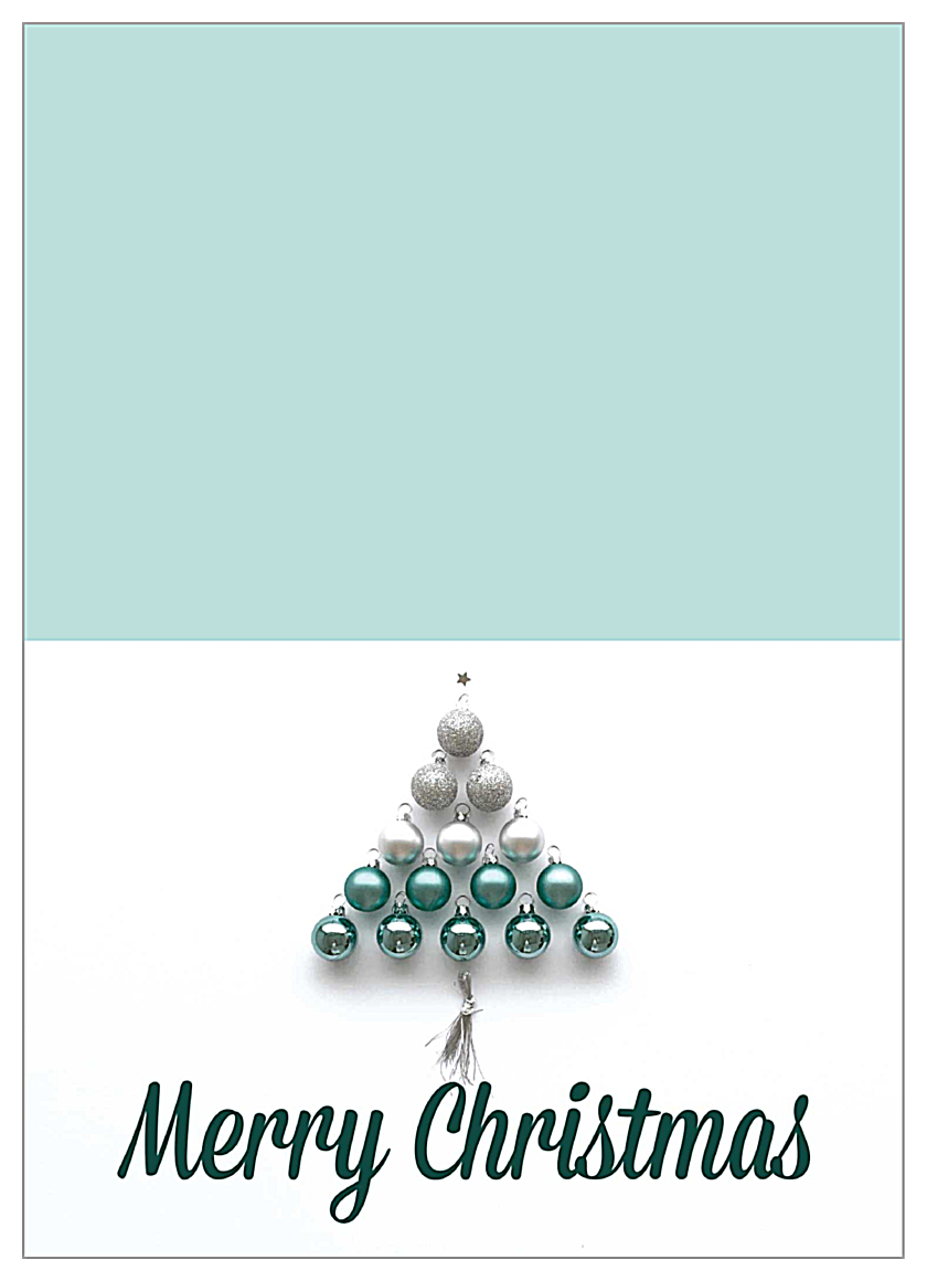 Ornament Tree front - Greeting Cards Maker
