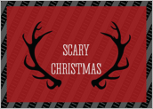 Scary Antlers - greeting-cards Maker