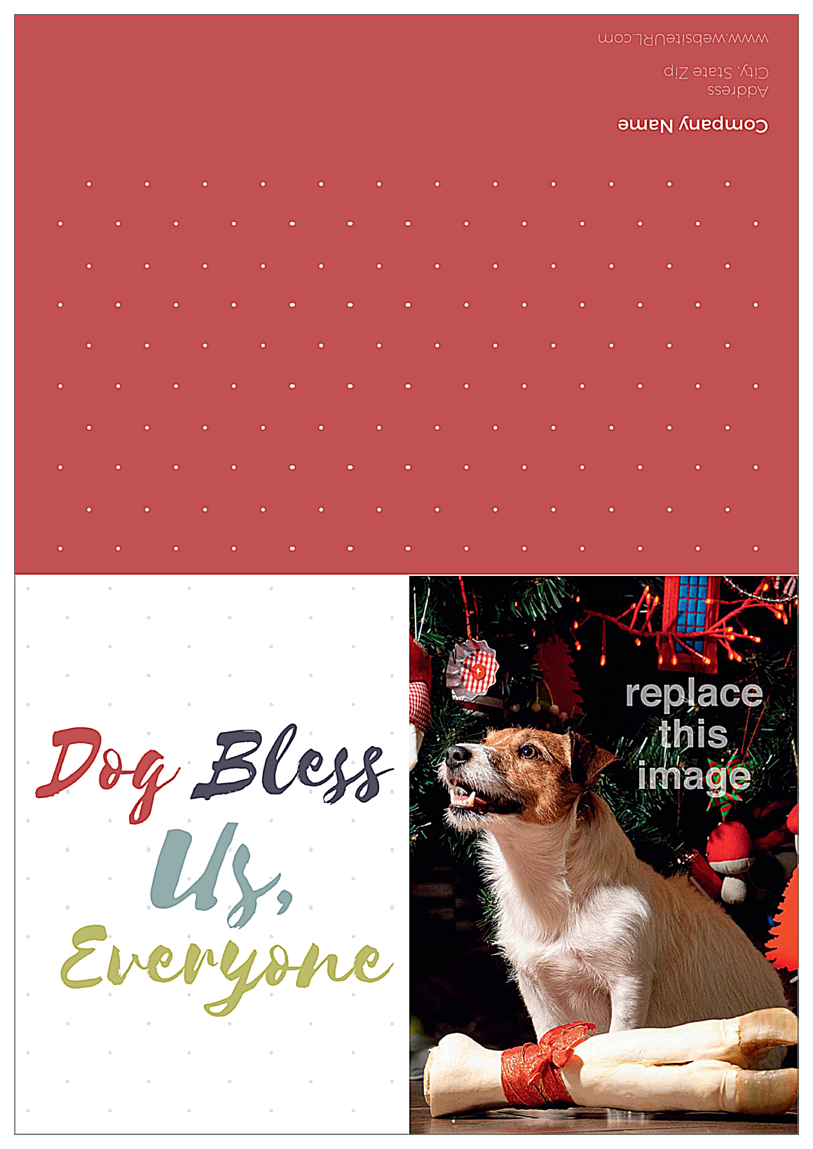 Dog Bless front - Greeting Cards Maker