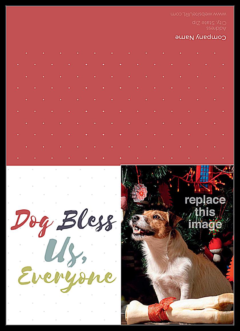 Dog Bless front - Greeting Cards Maker