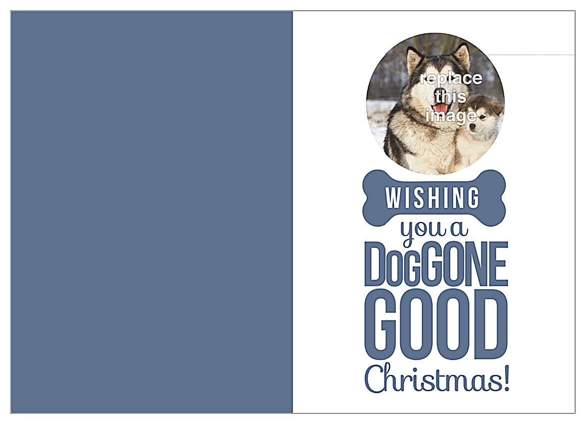 Doggone Christmas front - Greeting Cards Maker