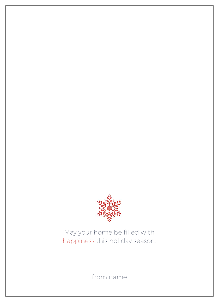Holiday snowflake back - Greeting Cards Maker