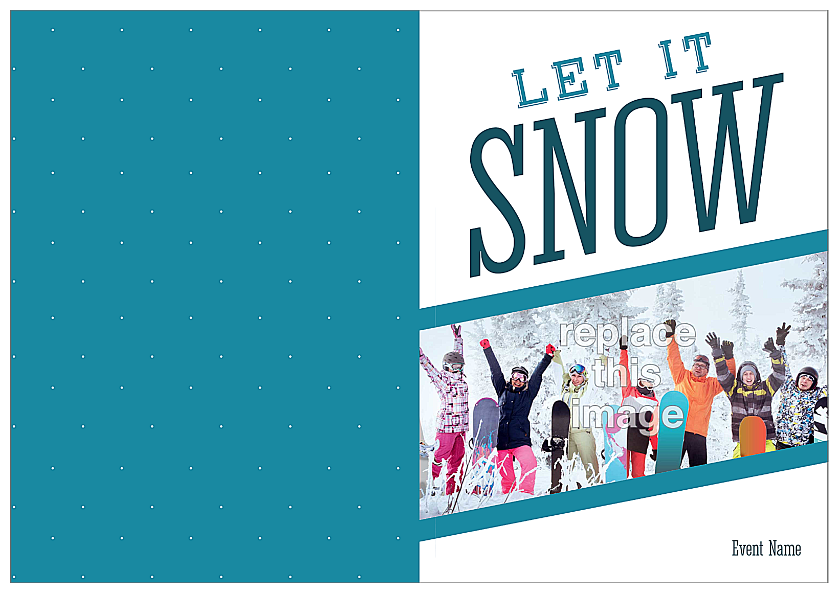 Snowy Funtime front - Greeting Cards Maker