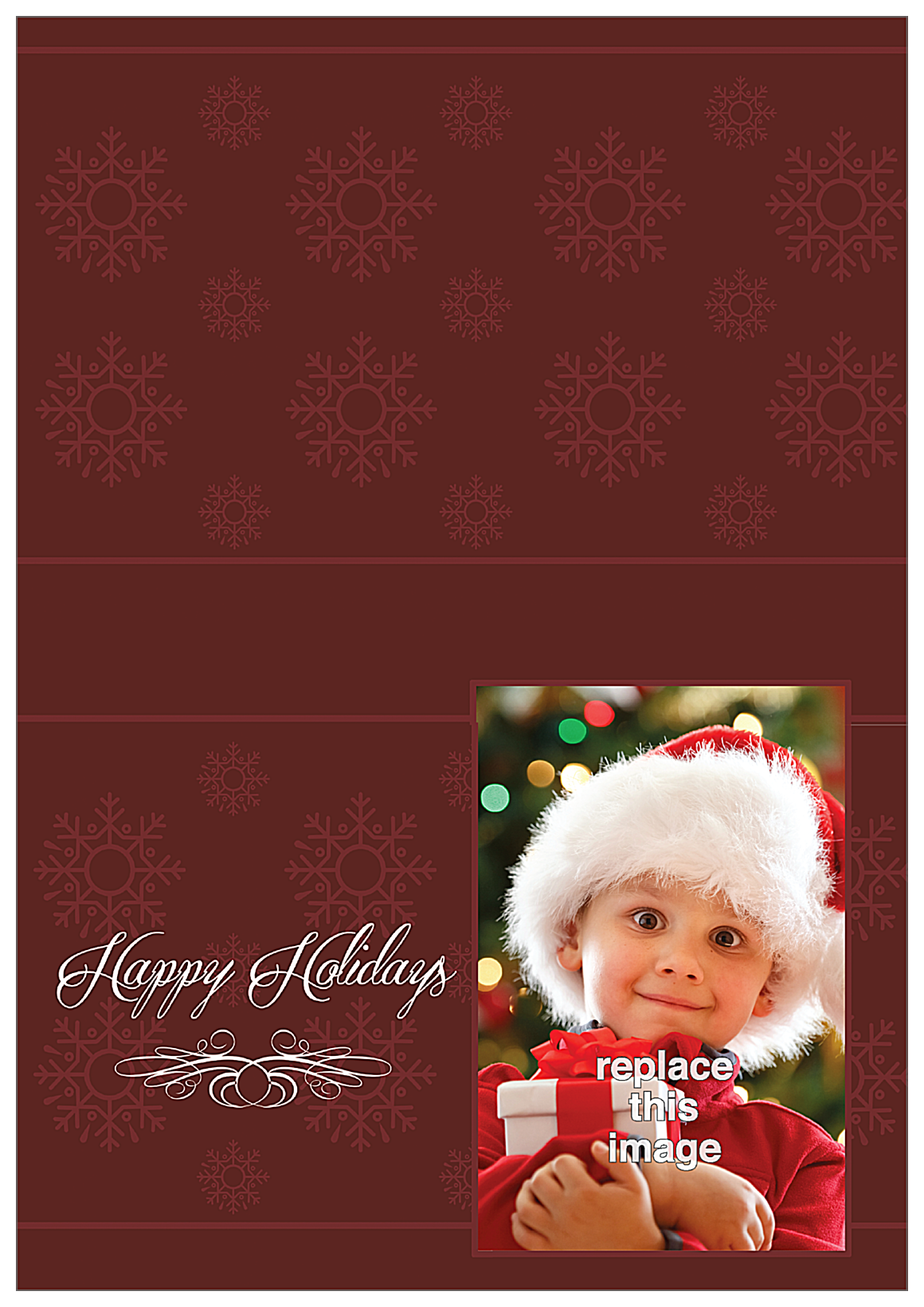 Holiday Flakes front - Greeting Cards Maker