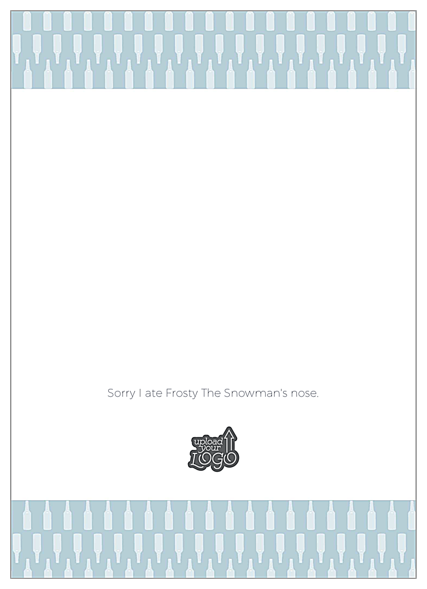 Hoppy Holidays back - Greeting Cards Maker