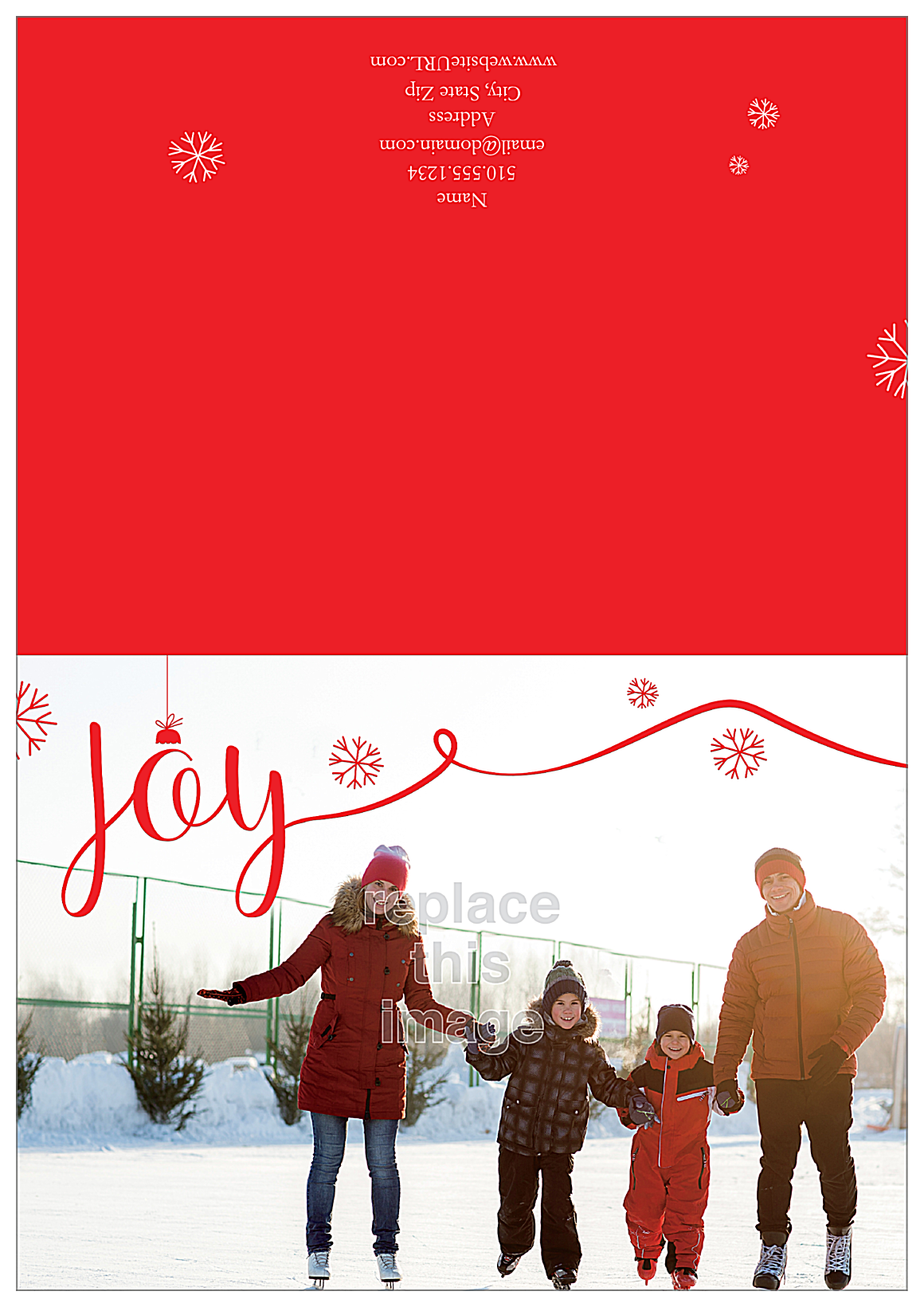 Joyful Photo front - Greeting Cards Maker
