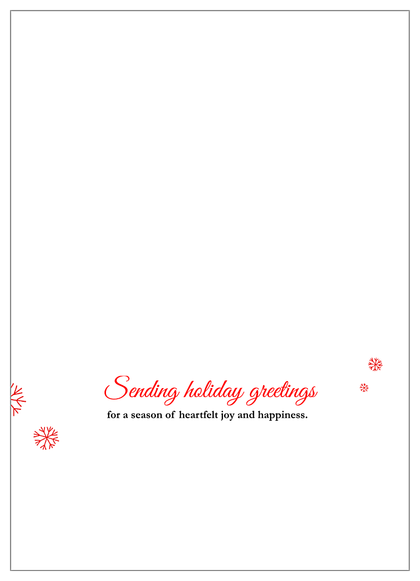 Joyful Photo back - Greeting Cards Maker
