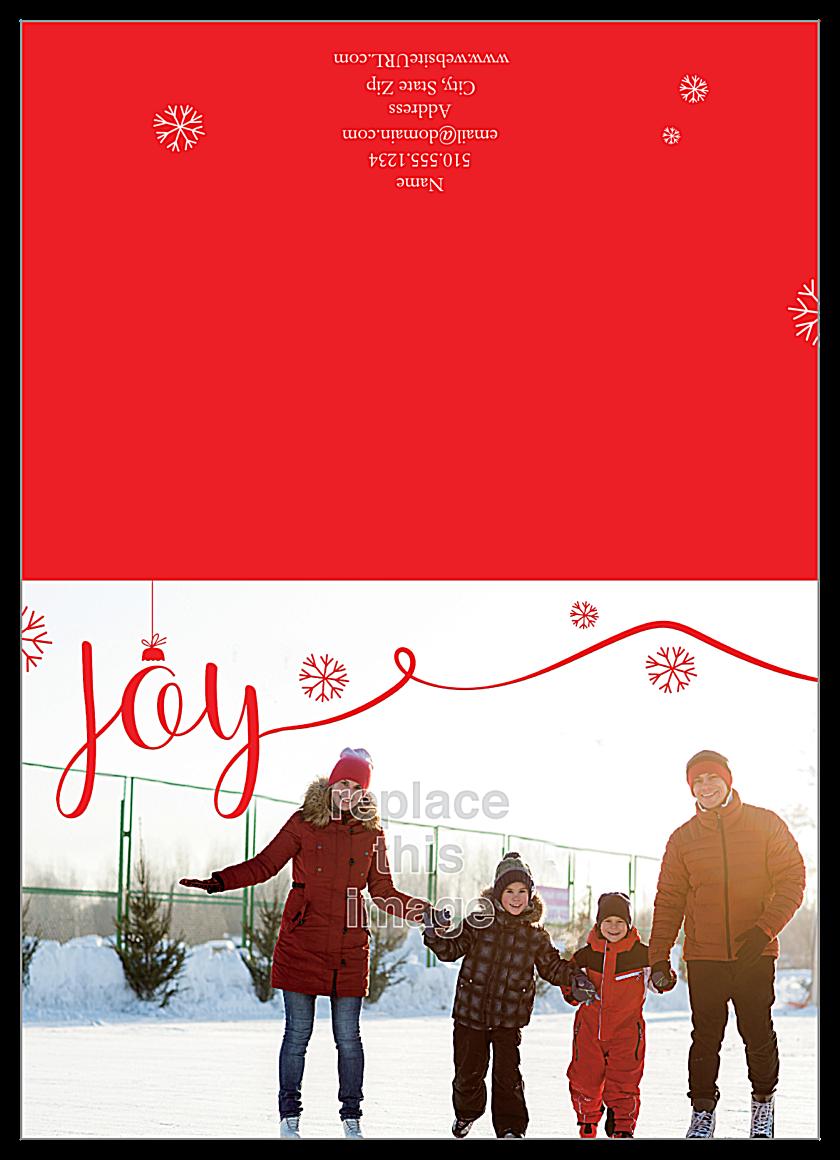 Joyful Photo front - Greeting Cards Maker