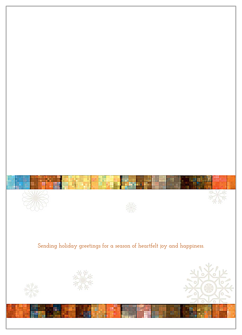 Mosaic Snowflakes back - Greeting Cards Maker