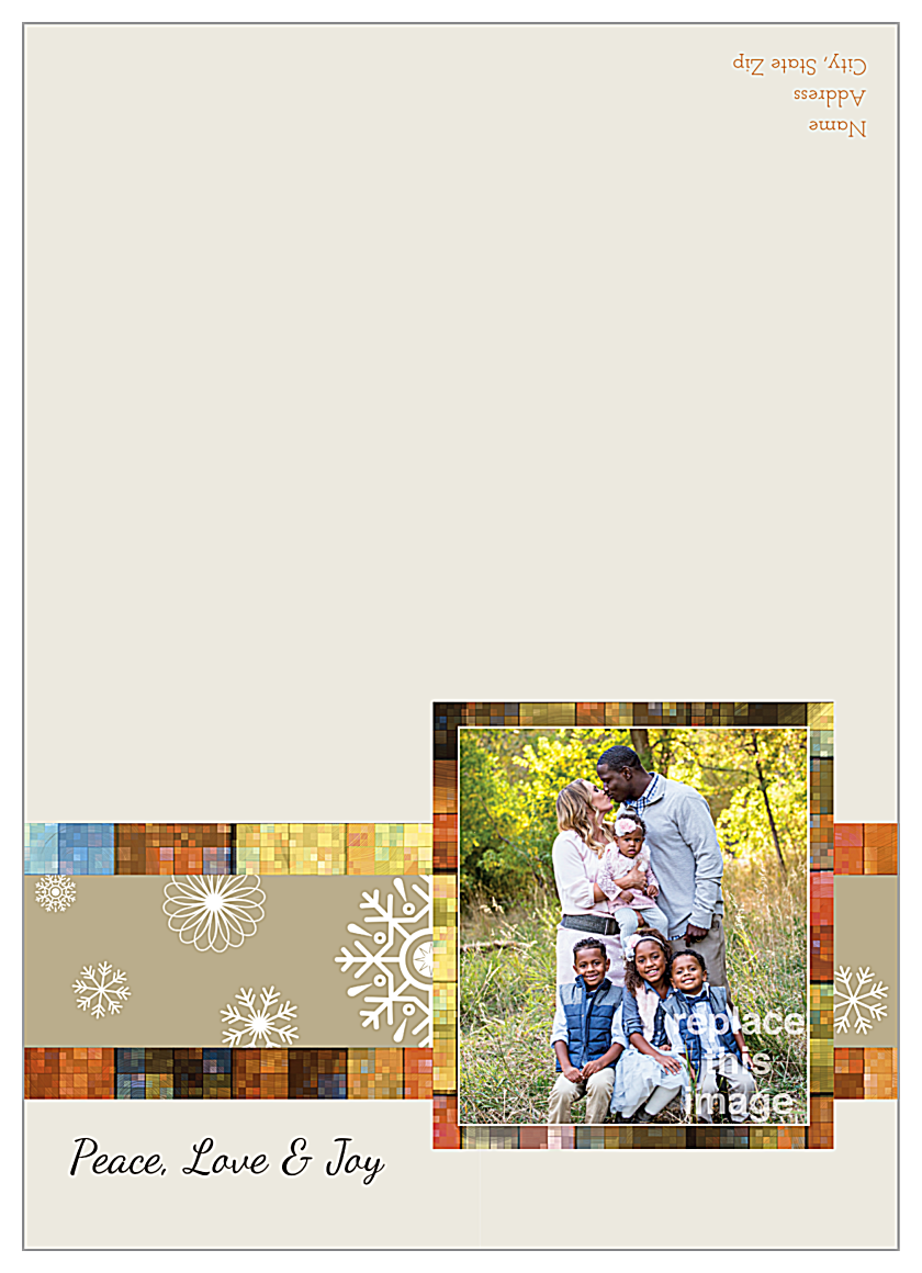 Mosaic Snowflakes front - Greeting Cards Maker