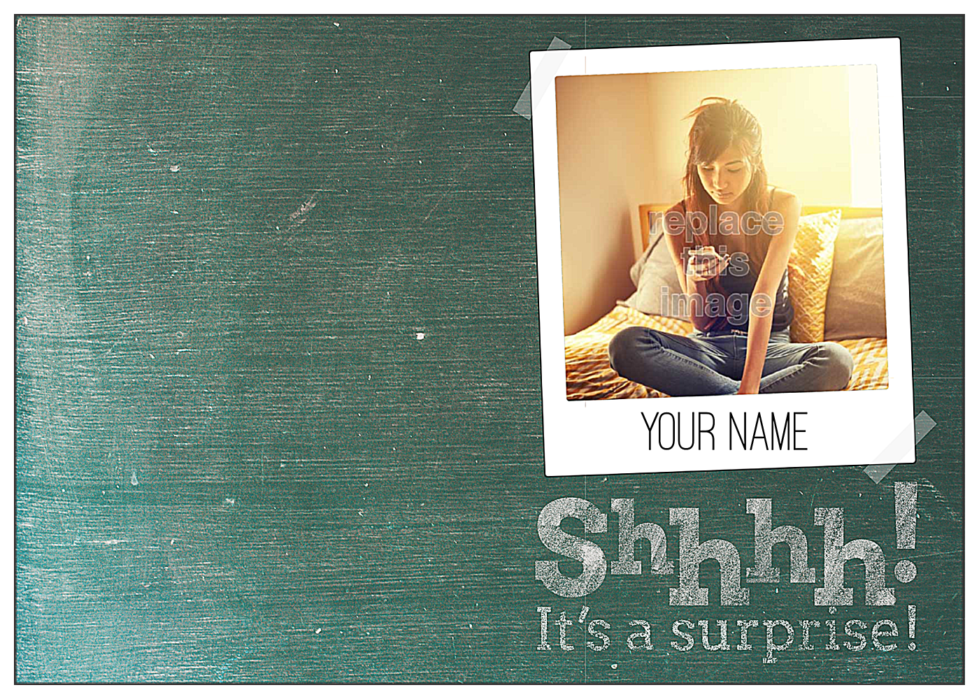Chalkboard front - Greeting Cards Maker